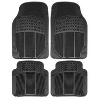 Wholesale 4 Piece Full Set Universal Fit Front Rear Driver Passenger Seat Ridged Water resistant Anti slip PVC Rubber Floor Mat