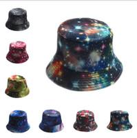Wholesale Color Summer Fantasy Galaxy Star Bucket Hats for Men Panama Women Fishing Hat Outdoor Sun hat