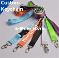 Wholesale Designer carabiner Custom Made Keychains Plain Blank Printing Logo Nylon Hanging Belt Lanyard Exhibition Badge Sling Personalized Gifts