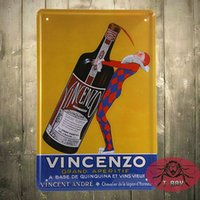 Wholesale TIN SIGN Vincenzo Beer Metal Decor Wall Art Farm Store Kitchen A