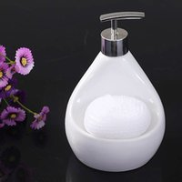 Wholesale Luxury Kitchen Ceramic Soap Liquid Dispenser Pump Sponge Caddy Scrubby Holder