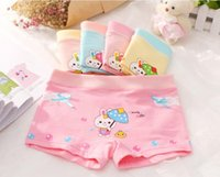 Wholesale 2016 new cotton cartoon fast delivery can be customized printing children s underwear girls boxer underwear antibacterial breathable warmth