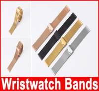 Wholesale Watch Band mm Stainless Steel Watch Mesh Bands Strap For common Wristwatch New arrival