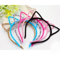 Wholesale 2016 Kids Headbands Cat Ears Plastic Short Combs Headband Women Girl Hair Accessory Party Nightclub Tire Festive Supply