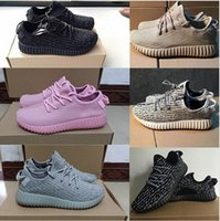 Wholesale Hot sale kids Kanye Milan West Boost Low Cut Sneakers Running Shoes Pirate Black Moonrock Grey Oxford Tan With Box