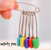 achat en gros de pin zakka-50 pièces / Lot Couleur constatations des épingles de sûreté clips sûrs sécurisés pour les ménages Zakka Nouveauté soins de bébé en métal sécuritaire Broche de bricolage