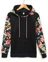 active sweaters - Fashion Sweater Floral Pattern Sweater Solid Color Flower Long Lleeve vest Sweater Hooded Sweater in colors
