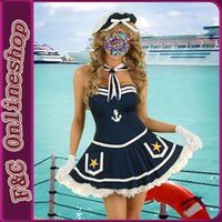 Cheap Wholesale-Sexy School Girl Sailor Costume,china online carnival cheap sailor dress costumes in free shipping