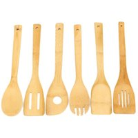 Wholesale Hot Useful Eco friendly Bamboo Wood Spatula Spoon Kitchen Cooking Tool Sets