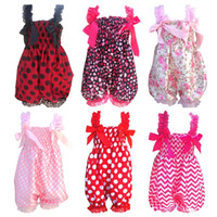 Wholesale DHL Newborn Infant Baby Floral Ruffle Rompers Dress One Piece Tutu Lace Clothes Bust Kids Children Girls Bloomers Jumpsuits Clothing ZJ R01
