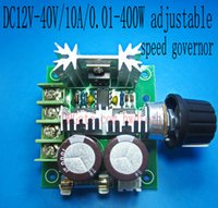 applied motor controls - 2pcs V V A W DC Motor Speed regulator Pulse Width Modulator PWM control switch governor apply industrial production