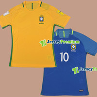 away ronaldinho - 2016 BRASIL PLAYER VERSION Home Yellow Away Blue Football Soccer Jerseys Shirt COSTA DAVID LUIZ NEYMAR OSCAR WILLIAN Ronaldinho
