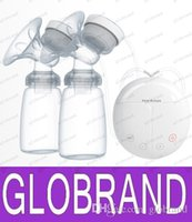 Wholesale LAI Cheap price Double Electric breast pumps Powerful Nipple Suction avent USB Electric Breast Pump with baby milk bottle