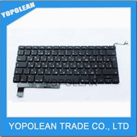 Wholesale NEW RU Russian Layout Keyboard For Macbook Pro quot A1286 RU Keyboard Year Black High Quality