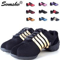 aerobics sneakers - Modern shoes Sutter Wei Mesh summer Dance shoes Square Shoes breathable Jazz shoes Dancing shoes Aerobics shoes increased Factory