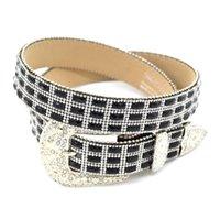 al por mayor accesorios de vestir para mujer-Moda Rhinestone Cinturones Aguja Hebilla PU cinturones para Womens Accesorio Western Universal Accesorios Blanco y Negro CH300589