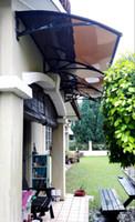 Wholesale DS100360 P x360CM Simple Design Door Awning Plastic Support Polycarbonate Door Awning Door Canopies