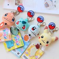 banpresto pokemon plush - 2016 Poke Bulbasaur Plush Toy Figures Toys Banpresto Climb Soft Stuffed Anime Cartoon Dolls Keychains Jeni Turtle Bulbasaur Psyduck Key Ring