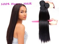 Wholesale 2016 New Products Brazilian Hair Unprocessed Straight Human Hair Bundles Dyeable Best Hair Weave Online Sale
