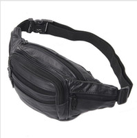 Wholesale Good Quality Leather waist pouch large waist bag leather bag Fanny pack sports bag pockets