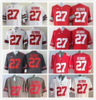 Wholesale Ohio State Buckeyes Jersey Football Ncaa College Eddie George Jerseys Black White Red Grey