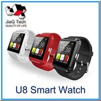 Bluetooth U8 montre Smart Watch Montres Sans Altimètre pour l'iPhone 6 Samsung S6 Note 5 HTC Android Phone In Gift Box