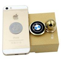 Wholesale 360 car phone holder creative magnet magnetic K gold plated car holder factory direct Spot trade