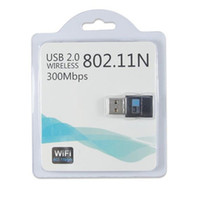 al por mayor g comunicaciones-Altavoz de tarjeta de red inalámbrica 802.11n adaptadores LAN adaptador de red a 300 Mbps Antena / g / b de Redes de Comunicaciones con el paquete al por menor