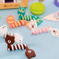 Wholesale Cute Silicone Cartoon Universal Long Earphone Headset USB Silicone Rubber Cable Bobbin Winder For Iphone Ipad Samsung
