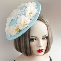 Wholesale Style atmosphere exaggerated fashion in Europe and America temperament female fresh tea small hat hairpin bride bridesmaid jewelry