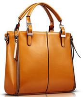 Wholesale Elegant Fashion Women Handbag High quality PU Leather Handbag Brown Women Bag Vintage Messenger Bag Office Lady Briefcase
