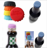 beer saver - Lids Silicone Bottle Cap Sealing Plug Wine Corks Seasoning Cap Silicone Beer Bottle Beer Covers Savers Kitchen Supplies