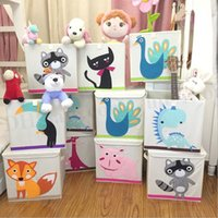 animal bin - Baby Toys Storage Boxes INS Organizer Toys Storage Basket Clothes Storage Bag Pouch Animal Storage Basket Clothes Foldable Cube Box Bin D130