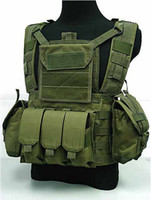 Wholesale Airsoft Tactical RRV Molle Canteen Hydration Combat Vest OD
