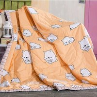 autumn quilt fabric - 100 Cotton Fabric cm Summer Quilt The Kitten Design Light And Comfortable To Help Sleep Children s Summer Quilt
