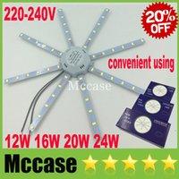Fácil Reemplazar 12W 16W 20W 24W Surface Mounted Panel de luces LED refresca blanco 6000K SMD 5730 con el imán Lámpara de techo LED abajo se enciende 220-240V