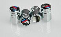 Wholesale 4PCS Chrome Metal Car Wheel Tire Valve Caps For BMW M E46 E52 E53 E60 E90 E91 E92 E93 F01 F30 F20 F10 F15 F13 M3 M5 M6 X1 X3 X5 X6 Car