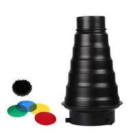 Studio Strobe Flash Snoot + Honeycomb Grid + 5 Gel de gel de couleur avec Bowens Mount KIT