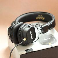 apple iphone mk - Nice Sound Marshall Major MK II Black Headphones New Generation Headset Remote Mic nd pk MARSHALL MONITOR AAA quality