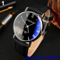 auto batteries sizes - Men Roman Numerals Blu Ray Faux Leather Band Quartz Analog Business Watch BRL Cheap band High Quality watch band sizing tool