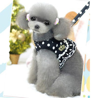 animal harnesses - NEW Pull Rope Pet Dog Harness with Leash Dog Cat Lovely Dots Pattern Spring Summer Leash Harness Vest and Rope Strap