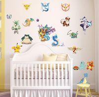 art room supplies - hotstyle pikachu Decal anywhere Removable WallSticker HomeDecor Art Kids Children Nursery Loving Home Decoration Gift supplies