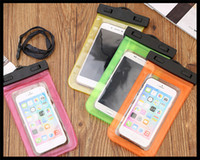 Wholesale Hot new fashionable pvc waterproof cell phone cases mobile waterproof bag for iphone cellphone with lanyard colorfuls