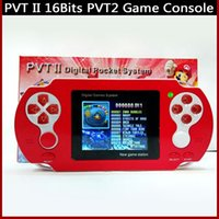 Wholesale PVT2 Game Player Portable Handheld inch bit PVT II Digital Pocket Game Players Video game Console Xmas Gifts