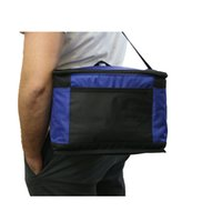 Wholesale customized D polyester tote cooler bag isulate bag with foam PVC inner waterproof