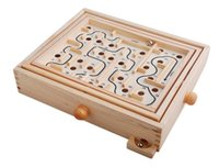 Wholesale Labyrinth Wooden Pinball Toy Maze Game Children Gift