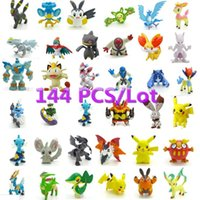 Wholesale 144pcs cm Poke Figures Cute Monster Mini Pikachu Figures Toys Random Brinquedos Collection Anime Kids Gifts Toys