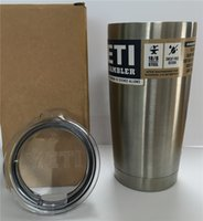 beer items - 2016 hot item Stainless Steel Yeti Cups Cooler YETI Rambler Tumbler Cup Vehicle Beer Mug Double Wall Bilayer Vacuum Insulated ml