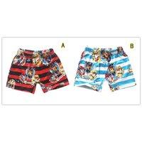 Wholesale color Paw Dog Boys Board Shorts Boys Swim Shorts Boys Summer Beach Shorts T Kids Swim Trunks LA239
