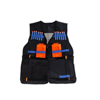 Wholesale Adjustable Tactical Vest For Simulation CS Game War Game Fighting Game Firepower Complement Vest For Nerf N Strike Elite Toy